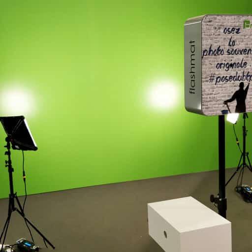 Installation pour une prise de vue sur fond vert